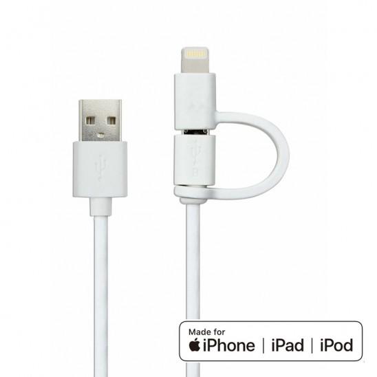 Câble 2en1 USB 3.0 MFi