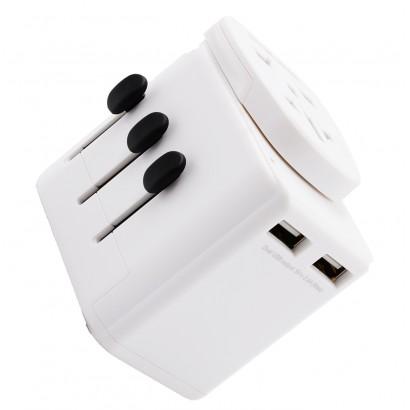 Adaptateur universel de voyage, rotatif 150 pays + USB
