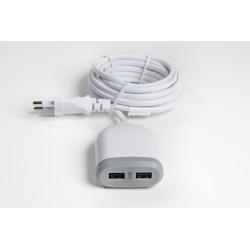 Chargeur double USB charge rapide 4.8A 3 mètres de Cable